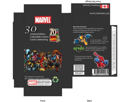 Marvel Comics Package Design by moonlitdreamsx