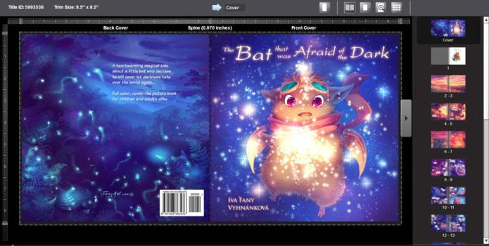The Bat that was Afraid of the Dark book cover by Fany001