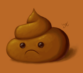 What would you do, if you saw a sad poo. by Werxzy