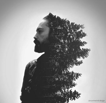 Double Exposure - The Slovakian Viking by petra-gergely