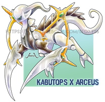 Kabutops X Arceus [closed] by Seoxys6