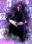 Raven meditates by Joendo
