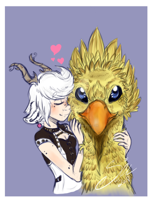 My Chocobo by Pen-N-ThreadAlchemy