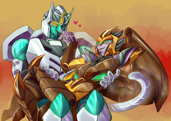 Till All Art One 1 and 2 - Airazor and Tigatron by CandyChameleon