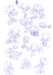 Sonic poses by Faezza