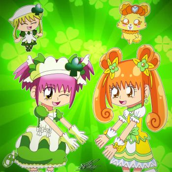 SC Precure- Clovers (Redraw) by Charisma-Moon