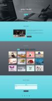 Spectrum - One Page Portfolio Template by templatewire