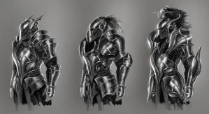 Medieval Armour design explorations by Bolziniori