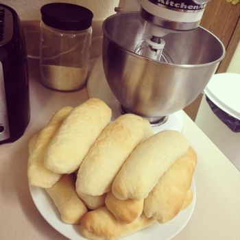 Homemade Hotdog Buns by Deathbypuddle
