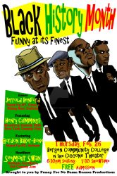 Black History Month Comedy Show Poster - Jan. 2015 by johntrumbull