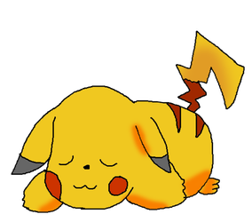 Sleepie Pikachu by lilac2012