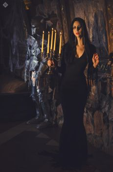 Morticia cosplay by The-Irstress