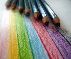 colourful pencils by AFK-photo
