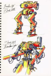 Sci-fi Hydraulic design-5 (Mecha) by Brand-194