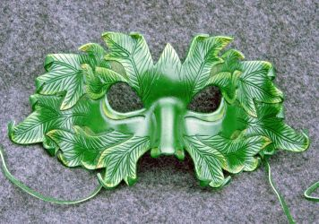 The Green Man...a leather mask by merimask