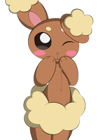 Cute lil Buneary by DreamEclipseWolf