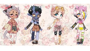 GILLBEAR+ALI ADOPTS - SUMMER FLORALS (CLOSED) by alpacasovereign