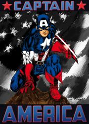 Captain America by Spiderguile by fabienart77