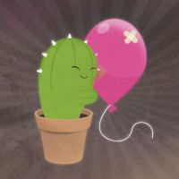 cactus + balloon by dani9del9