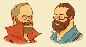 Helmets with beard by diceberg7