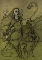 Hopeless, Maine Tarot-The Empress pencils. by CopperAge