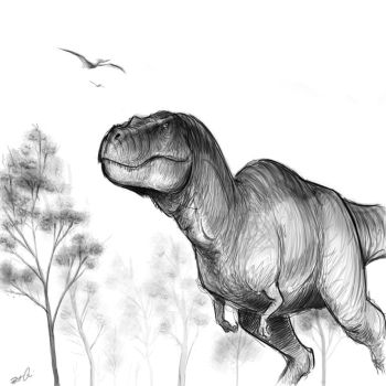 Tyrannosaurus sketch by RobtheDoodler