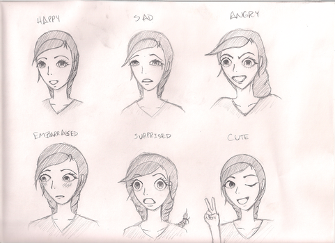 Carina Sketch 2 Expressions by DaiGurrenDrift