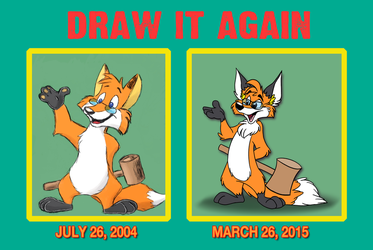 Draw It Again: What 10.5 Years Can Do! by crazyyellowfox