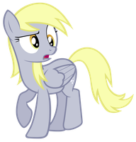 Derpy looking perplexed by Tardifice