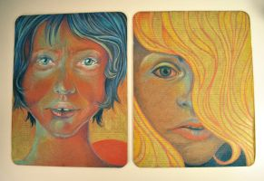 color pencils portraits by margaw