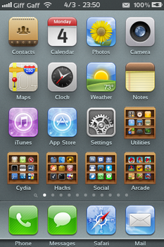 Booky Folder SD.theme For iPhone 3gs by leepat0302