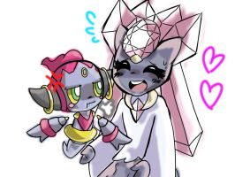 Little Hoopa and Diancie