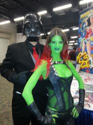 Business Vader and Gamora at SCEE 2014 by xayoz77