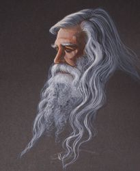 Thoughtful Wizard by HouseofChabrier