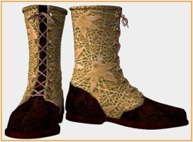 A3 Lotus Texture-boots by teizus