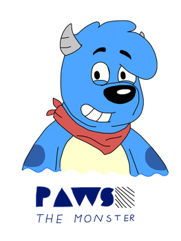 Paws the Monster (For Cartcoon) by AygoDeviant