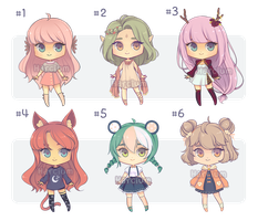 [OPEN 2/6] Adoptables Batch #1 by Harcium