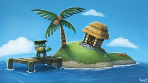 DAY 129. Animal Crossing - Island (35 Minutes) by Cryptid-Creations