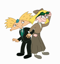 Arnold and Helga (April Fools' Day) by Alika-Storyteller