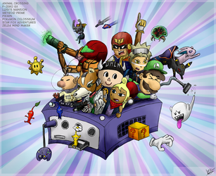 GameCube Tribute Color by DRLM