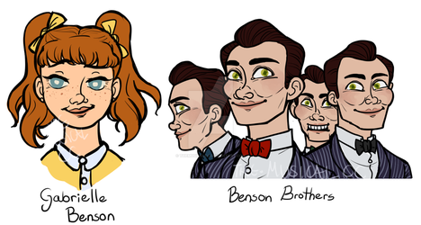 No Name Town- Character busts 3 by TheMusicalCC