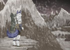 Fennec within the snow by StarlightsMarti