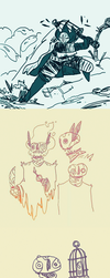 Project 0v0 doodles by Sky-Burial