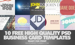 10 FREE Business Card Template by kgainez