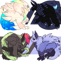 Creature Adoptables OTA [OPEN] by LordStarsCreamy