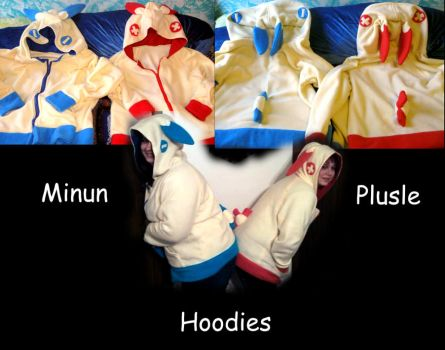 Minun and Plusle hoodies by cbs