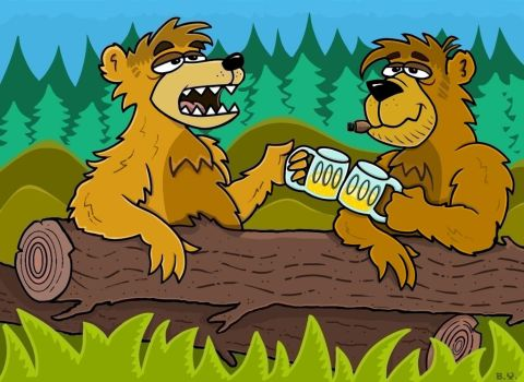 Bears with Beer by TallToonist