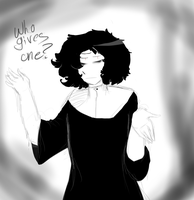 Who gives a fuck?Who gives one? by Crummy-Juncture