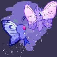 Butterfree and Venomoth