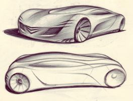 Supercar Sketches by kiril27